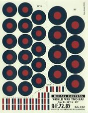 """Colorado Decals 1/72 RAF Type B Roundels/National Insignia -66""""16 -84"""" # 72085"""