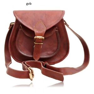68e98c2751a9 Details about Strong Large Hobo Purse Women Vintage Leather Messenger Cross  Body Bag Handmade