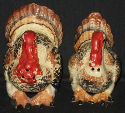 Thanksgiving Table Decor Chippy Farmhouse Decor Tom Turkey and Hen Shakers Salt and Pepper Shakers