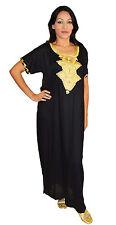 Moroccan Women Caftans Kaftans Dress Evening Party Short Sleeve Abaya Beach Robe