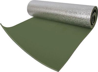 Olive Drab Thermal Reflective Foam Sleeping Pad Mat - 24 x 71 x 3/8 - w/ Ties