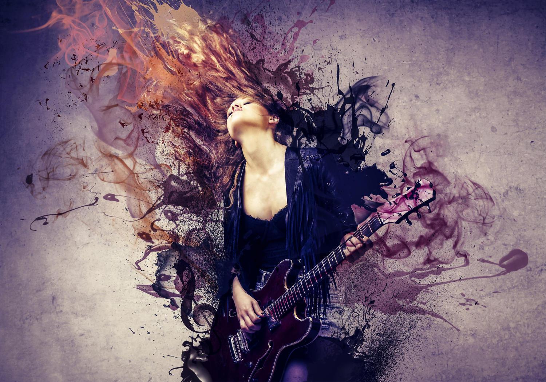 Fototapete Musik ist Leidenschaft  Tapete Vliestapete