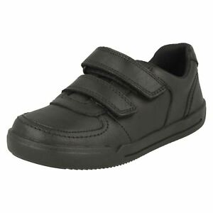 Boys Clarks Velcro School Shoes Mini