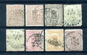 Nederland, frankeer, 1869 Wapenzegels nvph 13 / 18 ;