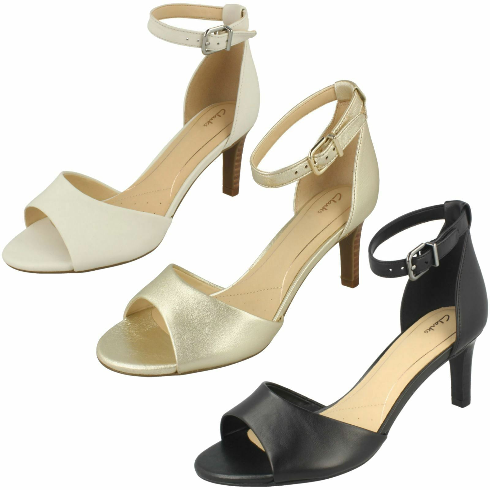 Ladies Clarks Elegant Stiletto Buckled Heeled Leather Sandals Laureti Laureti Laureti Grace da919c