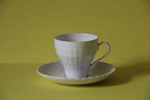 Hutschenreuther Lucina weiß Kaffeetasse mit Untertasse