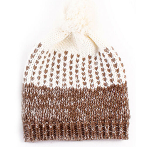 2PCS Mom/&Baby Women Newborn Toddler Kids Girl Boy Winter Knitted Hats Beanie Cap