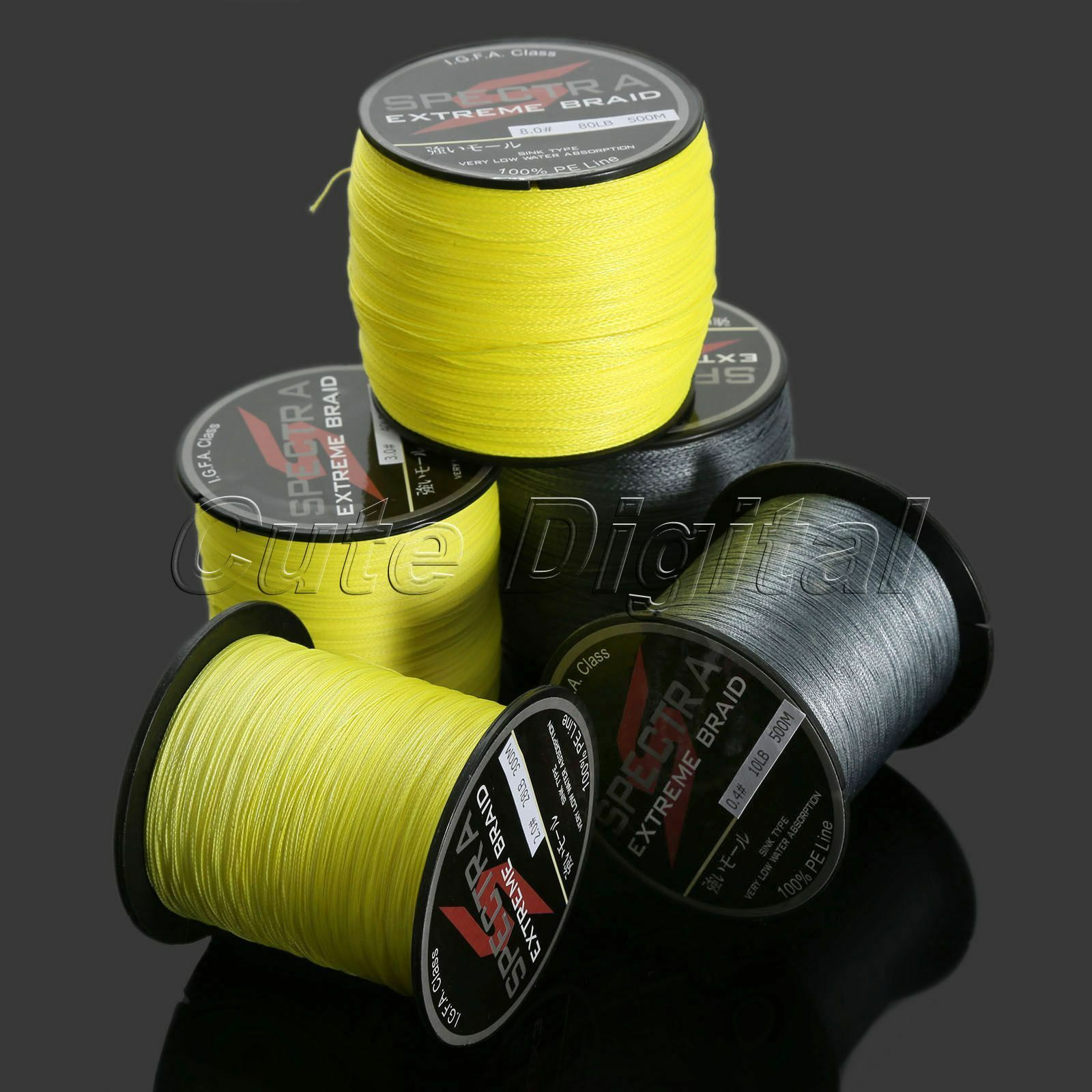 Spectra Strong Power PE Dyneema Extreme Braid Sea Fishing Line Strands 300 500M
