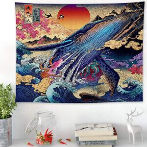 Tapisserie Style japonais Mandala Imprimer Tenture Murale 3D Tapisserie MuraleGU