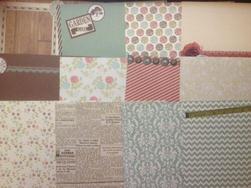 "6/"" x 6/"" 12 sheet CURIOSITY CORNER taster pack card making scrapbook craft paper"
