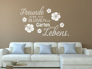 wandtattoo spr che freunde sind wie blumen im garten nr 1. Black Bedroom Furniture Sets. Home Design Ideas