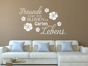 Details Zu Wandtattoo Sprüche Freunde Sind Wie Blumen Im Garten Nr 1 Wand Tattoos Sticker
