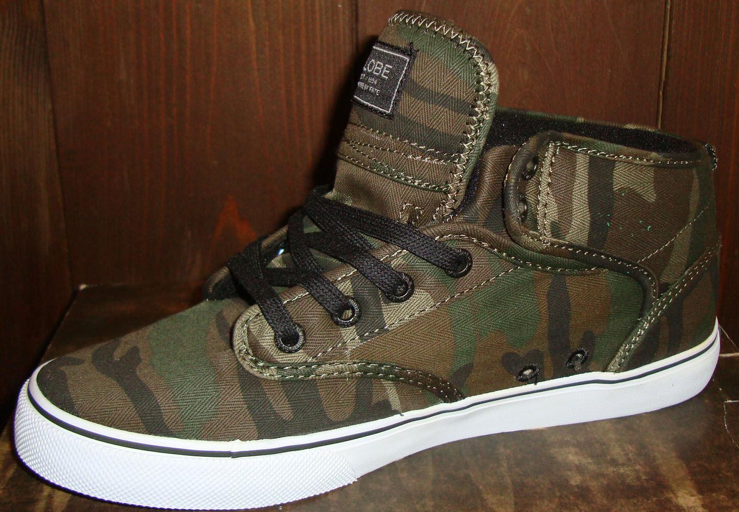 Scarpe da skateboard GLOBE Motley Mid skate street shoes green camo