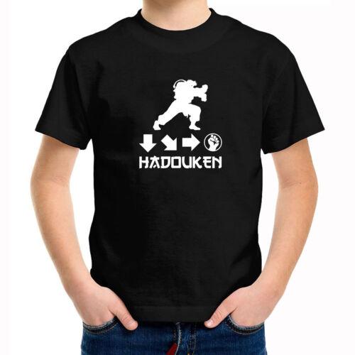 Hadouken Ryu Street Fighter Ken Boys Kids Youth Tee T-Shirt Retro Gaming Gift
