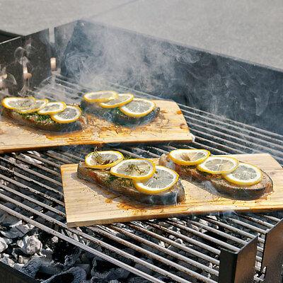Hecht International Grillbretter aus Zedernholz 2er-Set Holz braun NEU + OVP