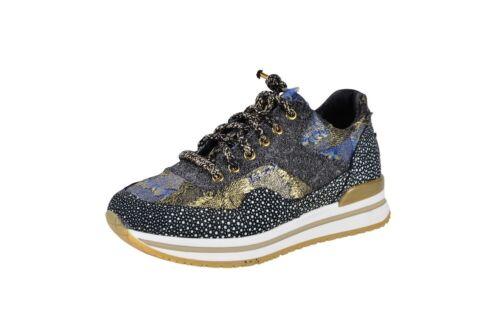 2 Star Gold it Zapatos señora 36 narrow cut/estrecho corte low-top azul