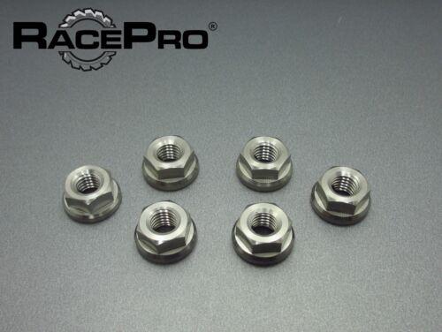 RacePro Natural x6 Titanium Rear Sprocket Nuts Yamaha YZF750 93-96