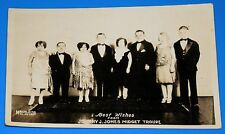 VINTAGE: JOHNNY J. JONES MIDGET TROUPE: BEST WISHES: MACHLEITH MIL. WIS. (PHOTO)