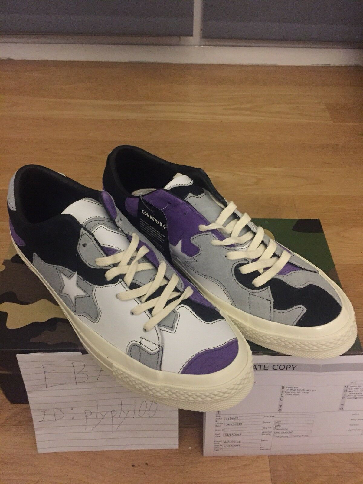 Converse One Star X Sneakersnstuff SNS Purple Camo US Size 11