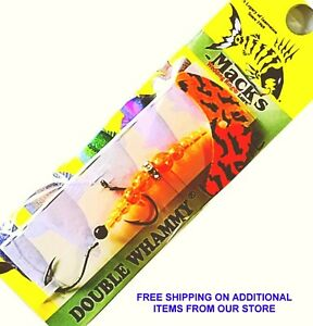 Mack's Double Whammy Walleye Orange & Black Tiger Blade / Flo Orange & 6' Leader