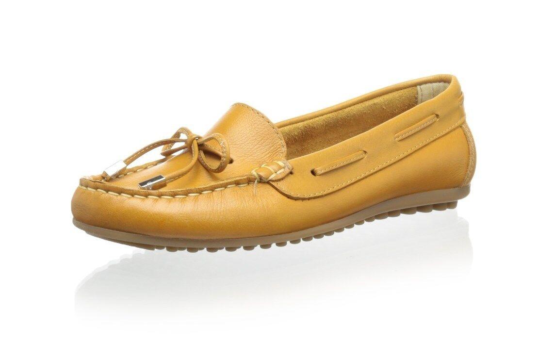 PATRICIA GREEN WOMEN'S BECCA HIDDEN IN WEDGE TIE MOCCASIN Schuhe IN HIDDEN MUSTARD 9 M NIB b74c1d