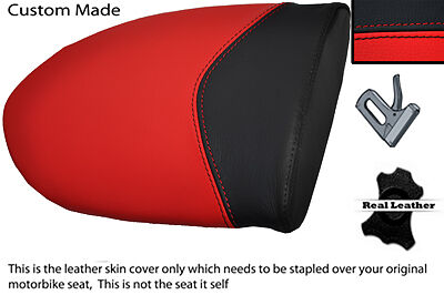 BLACK CUSTOM FITS MV AGUSTA F4 750 1000 99-09 REAR PILLION LEATHER SEAT COVER
