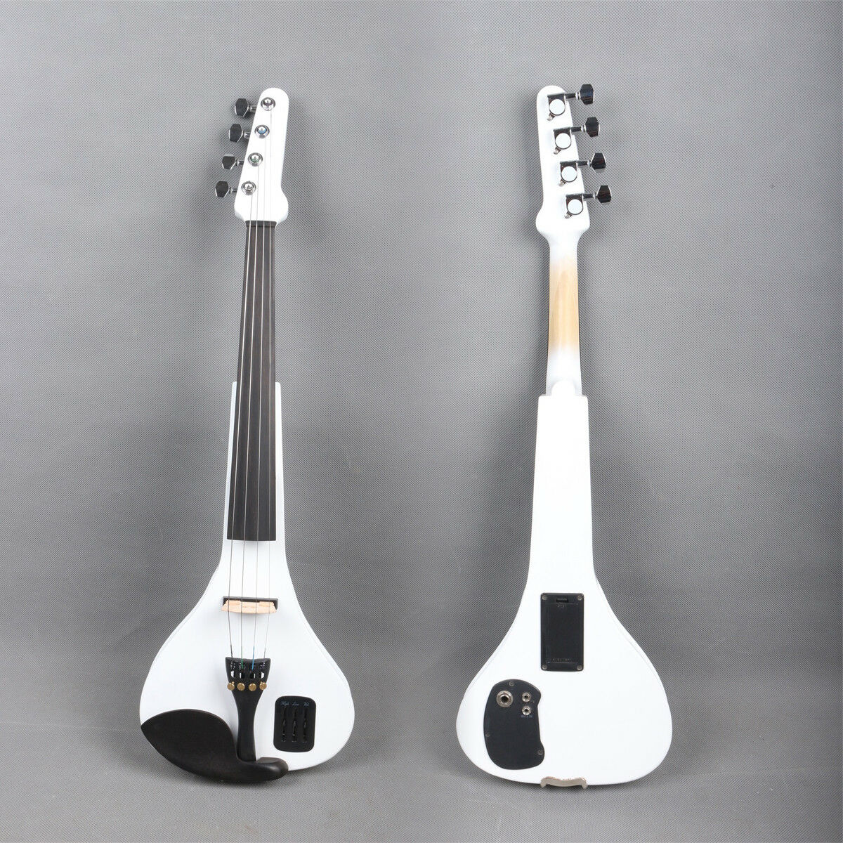 Yinfente White4 4 Electric Silent Violin Wooden With MP3 input Free Case Bow EV3