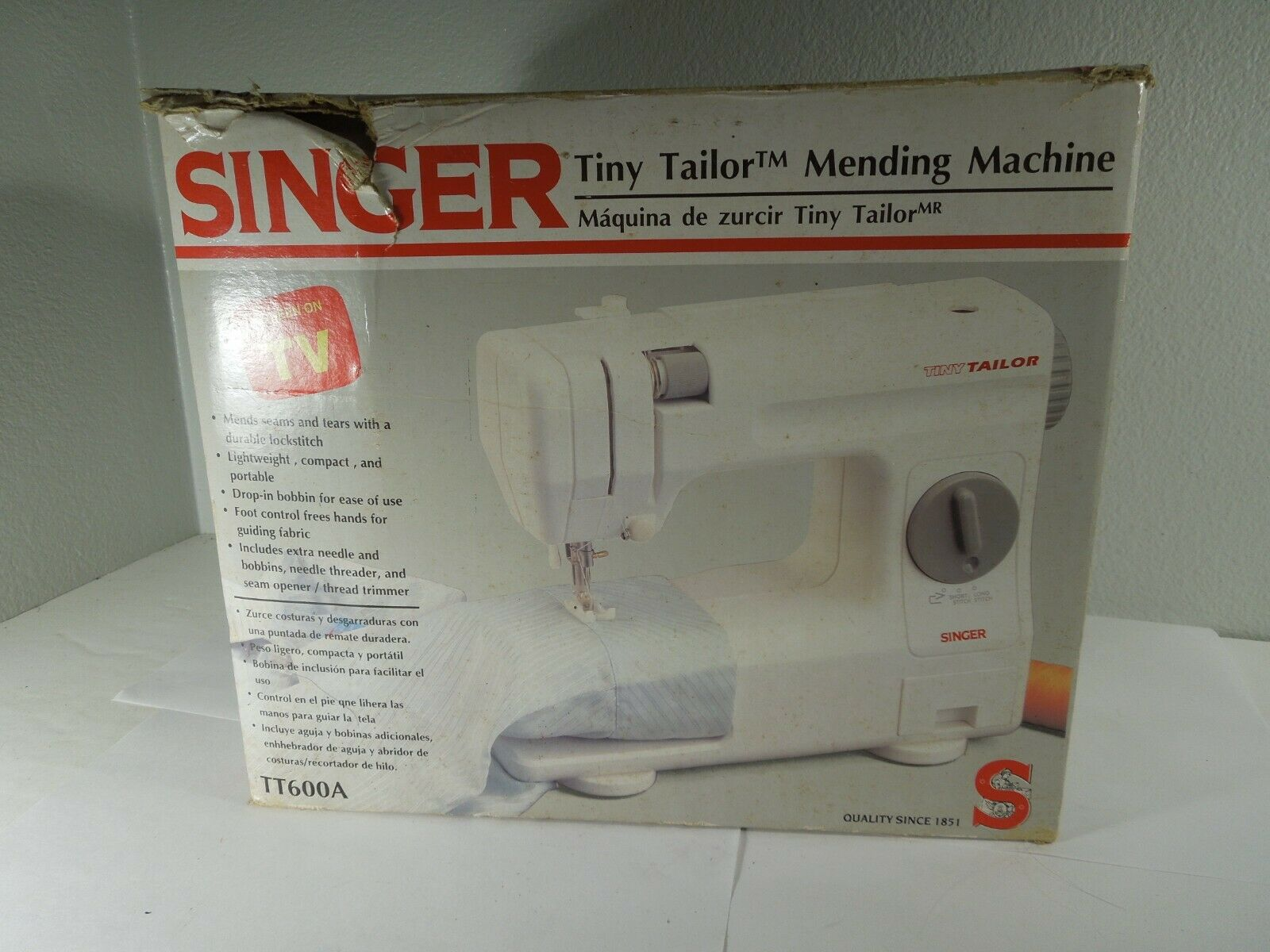 s l1600 - SINGER Tiny Tailor Mending Sewing Machine TT600A