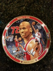 1996-Upper-Deck-MICHAEL-JORDAN-034-Record-72-Wins-034-Limited-Edition-Porcelain-Plate