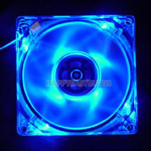 4 LED Light 12cm 120mm PC Computer Clear Case Quad CPU Cooling Cooler Fan 4 Pin