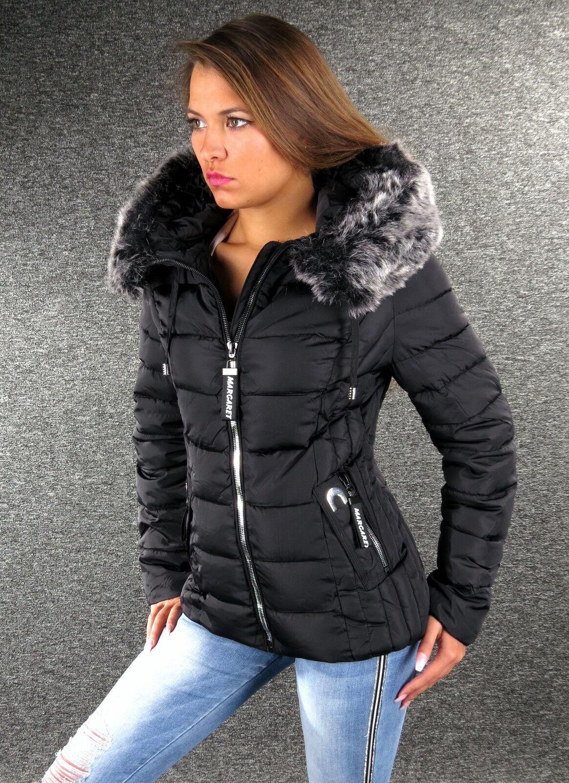5e128fa680 XXL XL L M S Nera Invernale Giacca women Zazou Pelliccia di ...
