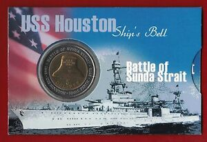 2002-Australia-Battle-of-Sunda-Strait-5-Bimetallic-UNC-Coin-USS-Houston-sleeve