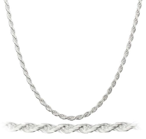 20 STERLING SILVER PLATED 2 MM ROPE 16 30 INCH CHAIN NECKLACE 18 24