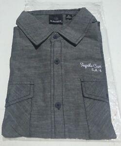 NWT Jose Cuervo Tequila La Rojeña Long Sleeve Button Front Gray Shirt Medium