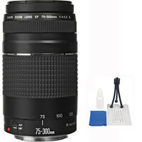 Canon 75-300mm F/4-5.6 Iii Af Lens + 5 Piece Accessory Kit For 7d 60d T6 T5i T6i