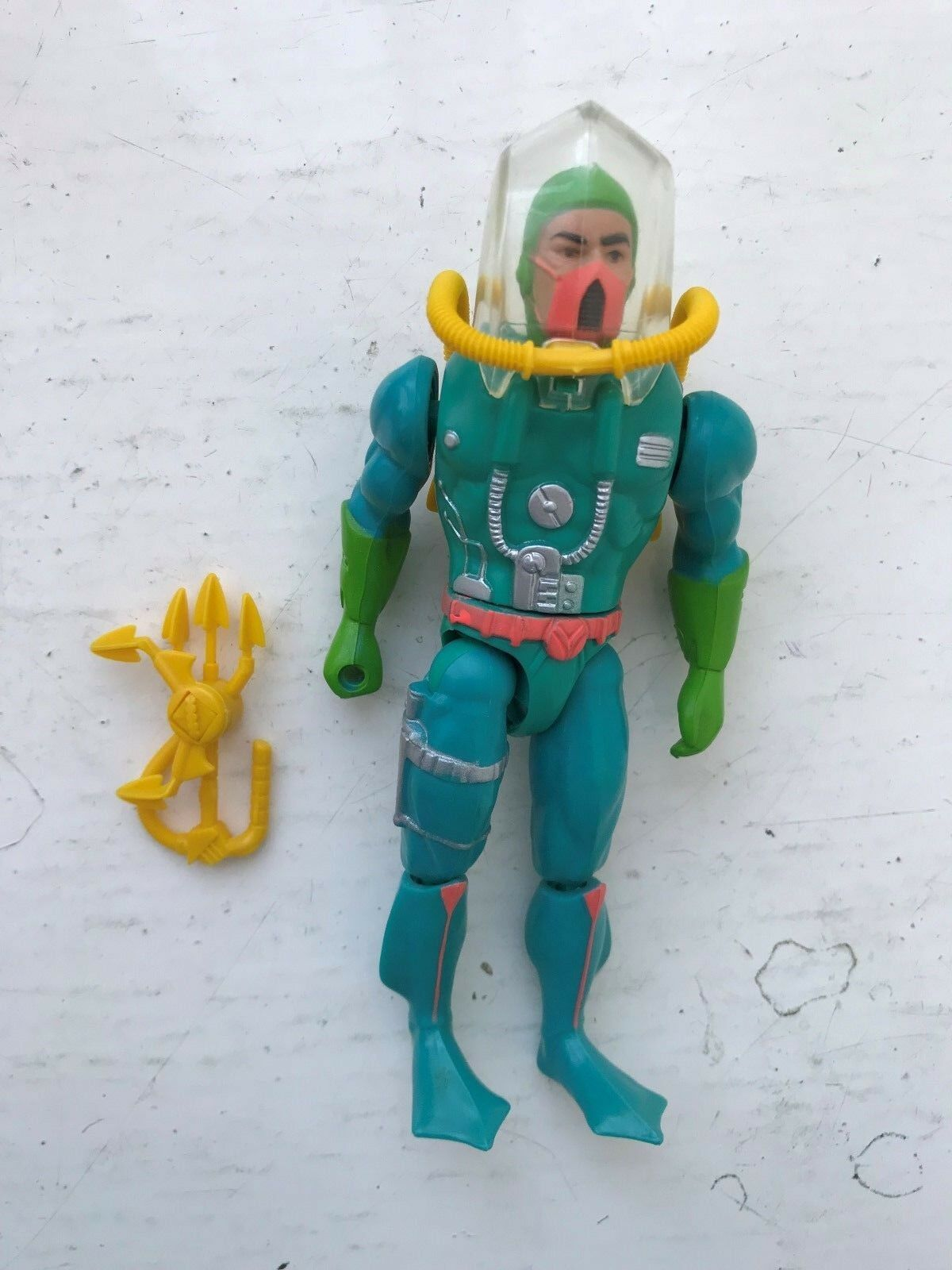 RARE 80S COMPLETE MATTEL HE-MAN MOTU THE NEW ADVENTURES HYDRON ACTION FIGURE