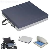 Drive Medical Deluxe Skin Protection Gel E 3 Wheelchair Seat Cushion 16x16x3in