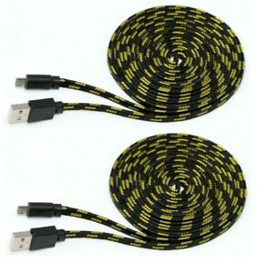 2x-Micro-USB-Ladekabel-Datenkabel-3-Meter-fuer-PS4-Xbox-One-Smartphone-Tablet-uvm