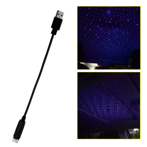 Chic USB Car Interior Atmosphere Star Sky Lamp Ambient Star Light LED Projector