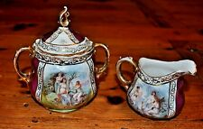 Antique Austrian Porcelain Sugar and Creamer s. Karl Lasser