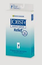 JOBST Relief 20-30 Thigh High Open Toe Beige Compression Stockings Small