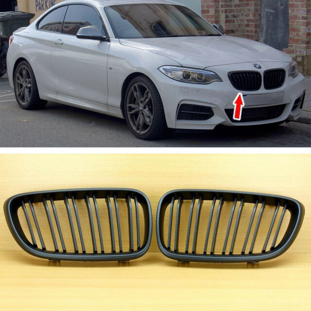 Matte Black For BMW 2-Series F22 F23 F87 M2-Type Front