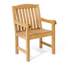 Image Is Loading Arm Chair A Grade Teak Garden Outdoor Furniture