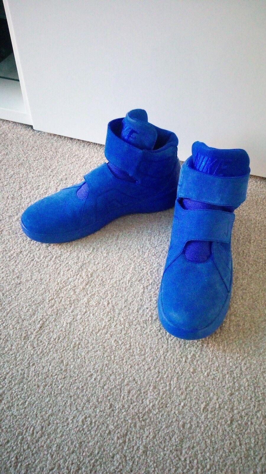 Nike Marxman Basketball Style Trainers Bleu