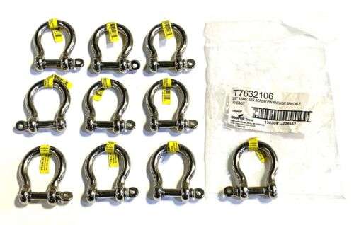 """Campbell 3//8/"""" Anchor Shackle Stainless Steel Screw Pin Sailboat Rigging 10 Pack"""