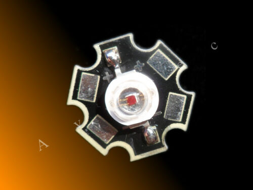 3 Watt Hi Power 3W High Power LED auf Starplatine orange 600nm 610nm 800mA