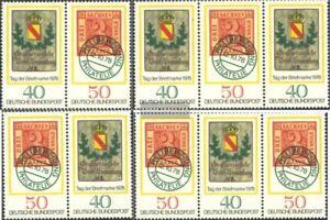 BRD-BR-Deutschland-WZd1-WZd4-kompl-Ausg-postfrisch-1978-Tag-der-Briefmarke