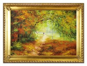 Oil-Painting-Pictures-Hand-Painted-with-Frame-Baroque-Art-G96535