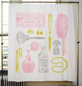 Image Is Loading IZOLA POWDER ROOM VINTAGE RETRO SHOWER CURTAIN SIZE