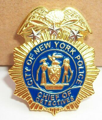 NYPD Police Captain MINI badge shield Capt LAPEL PIN not coin